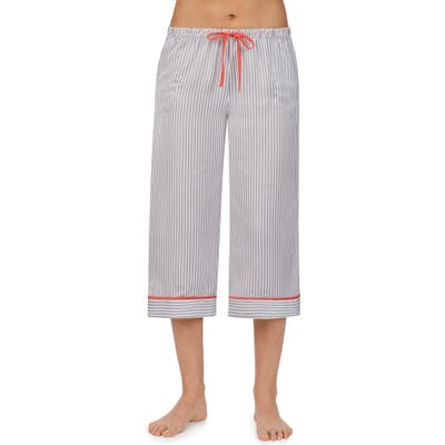 Room Service Wide Leg Crop Pajama Pants, Grey (Nordstrom Exclusive)