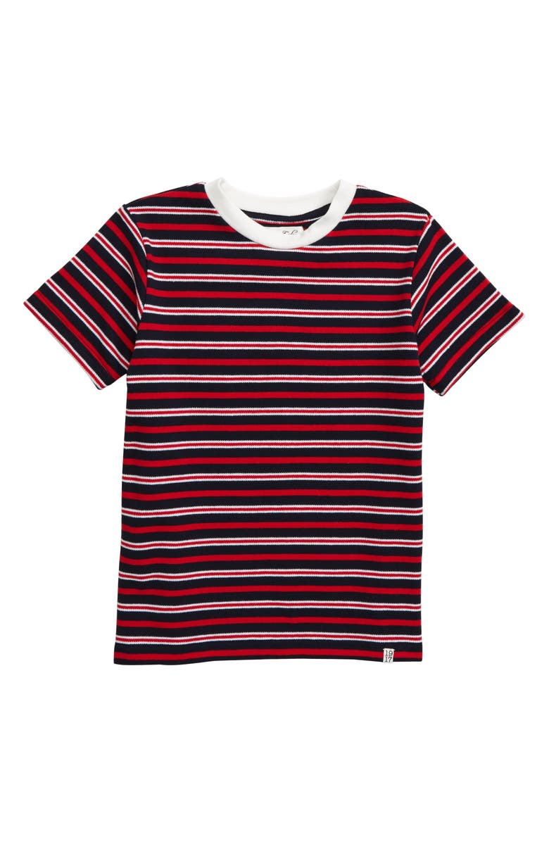 SOVEREIGN CODE Stripe Shirt, Main, color, RED/ NAVY