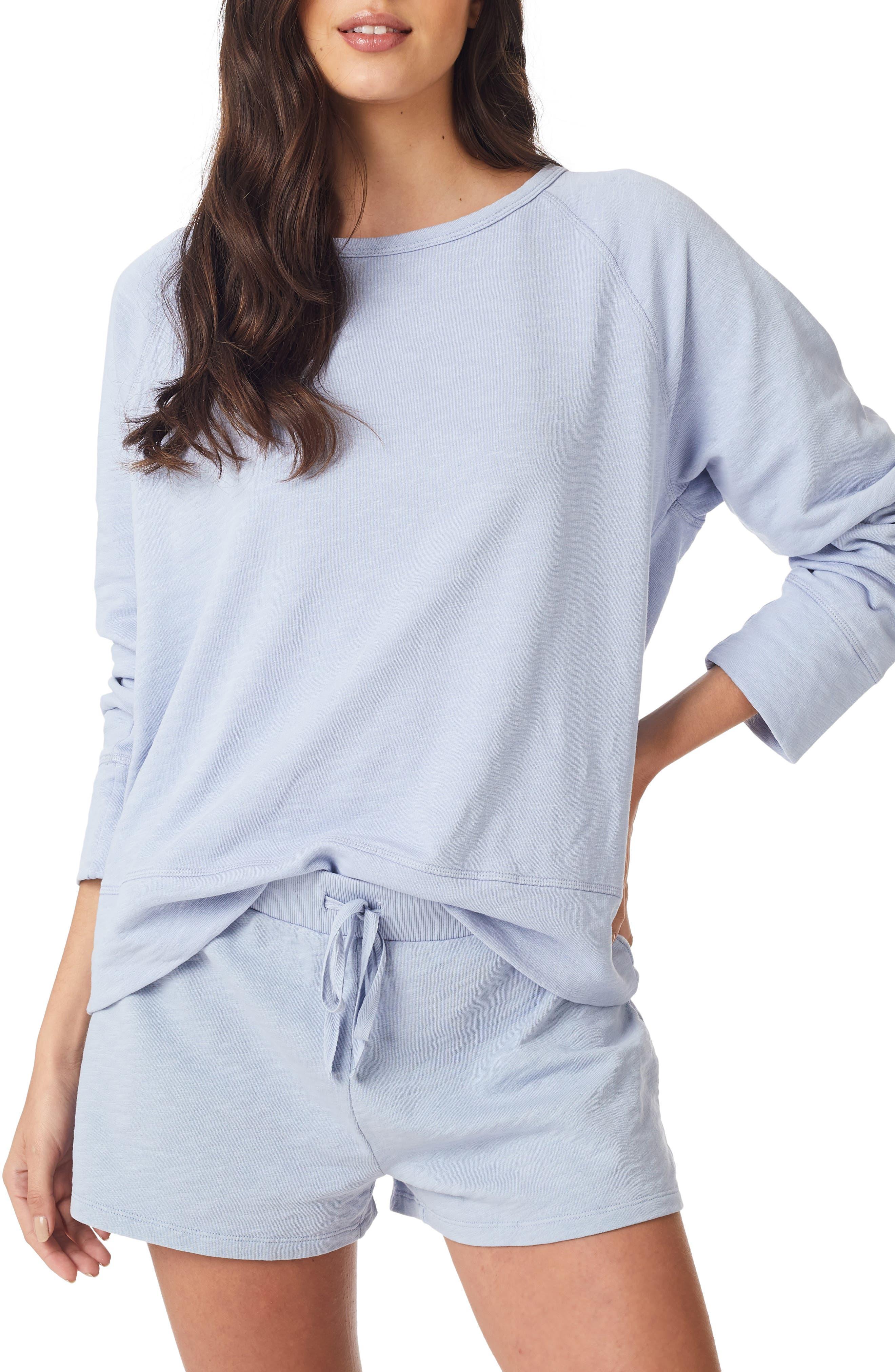 The White Company Loopback Cotton Sweatshirt, Blue