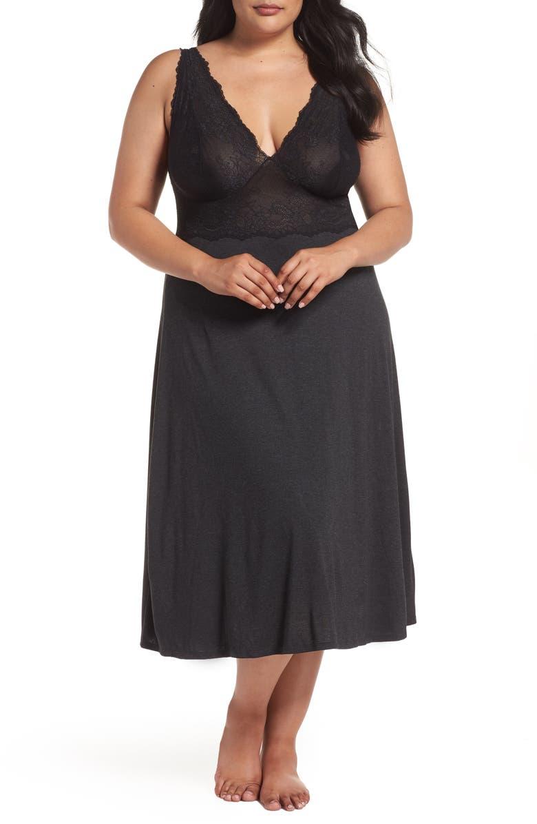NATORI Luxe Shangri-La Nightgown, Main, color, 035