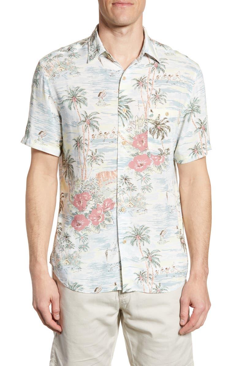 FAHERTY Regular Fit Aloha Button-Up Shirt, Main, color, ALOHA BLISS