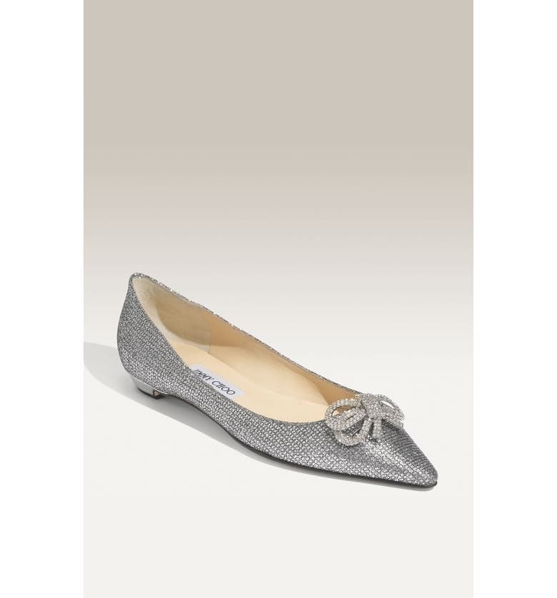 JIMMY CHOO 'Raquelle - Crystal Collection' Flat, Main, color, 040
