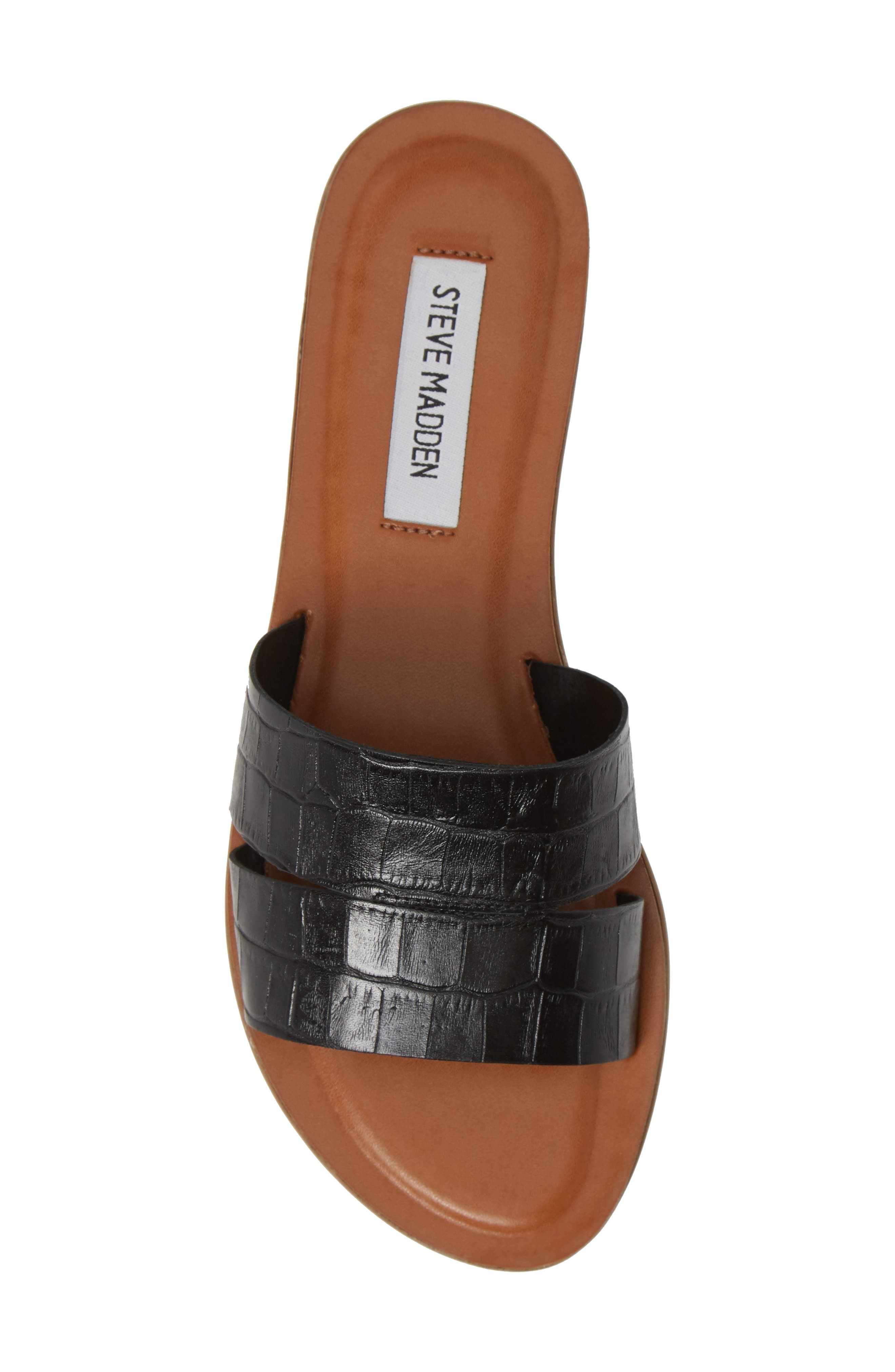 ,                             Alexandra Slide Sandal,                             Alternate thumbnail 5, color,                             BLACK CROCO