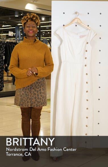 Jordan Wide Leg Linen Blend Jumpsuit, sales video thumbnail