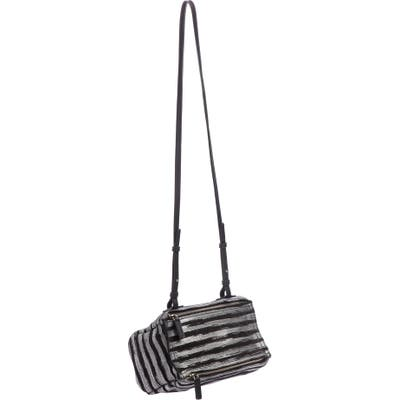 Givenchy Mini Pandora Metallic Stripe Leather Shoulder Bag - Metallic