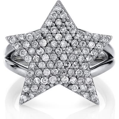 Sheryl Lowe Pave Diamond Star Ring