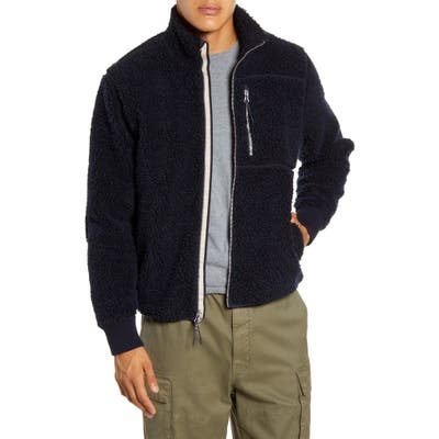 Alex Mill Regular Fit Fleece Jacket, Blue