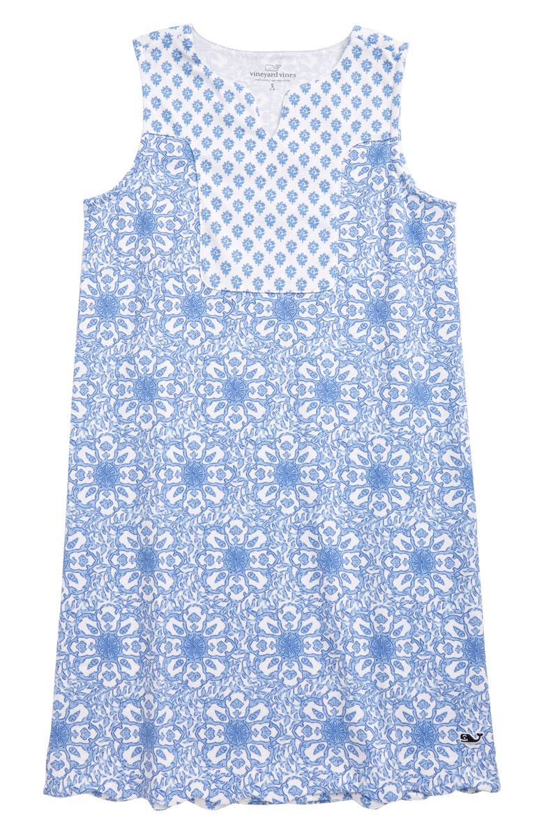 VINEYARD VINES Medallion Print Shift Dress, Main, color, 500