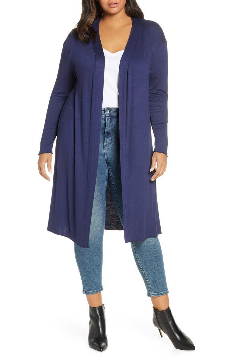 DANTELLE Long Cardigan, Main, color, NAVY