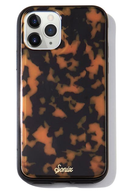 Sonix BROWN TORT PHONE 11 PRO CASE & SLIDE SILICONE PHONE RING
