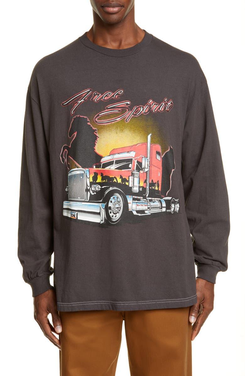 RHUDE Wild Spirit Long Sleeve T-Shirt, Main, color, 001