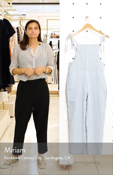 Railroad Stripe Tie Strap Overalls, sales video thumbnail