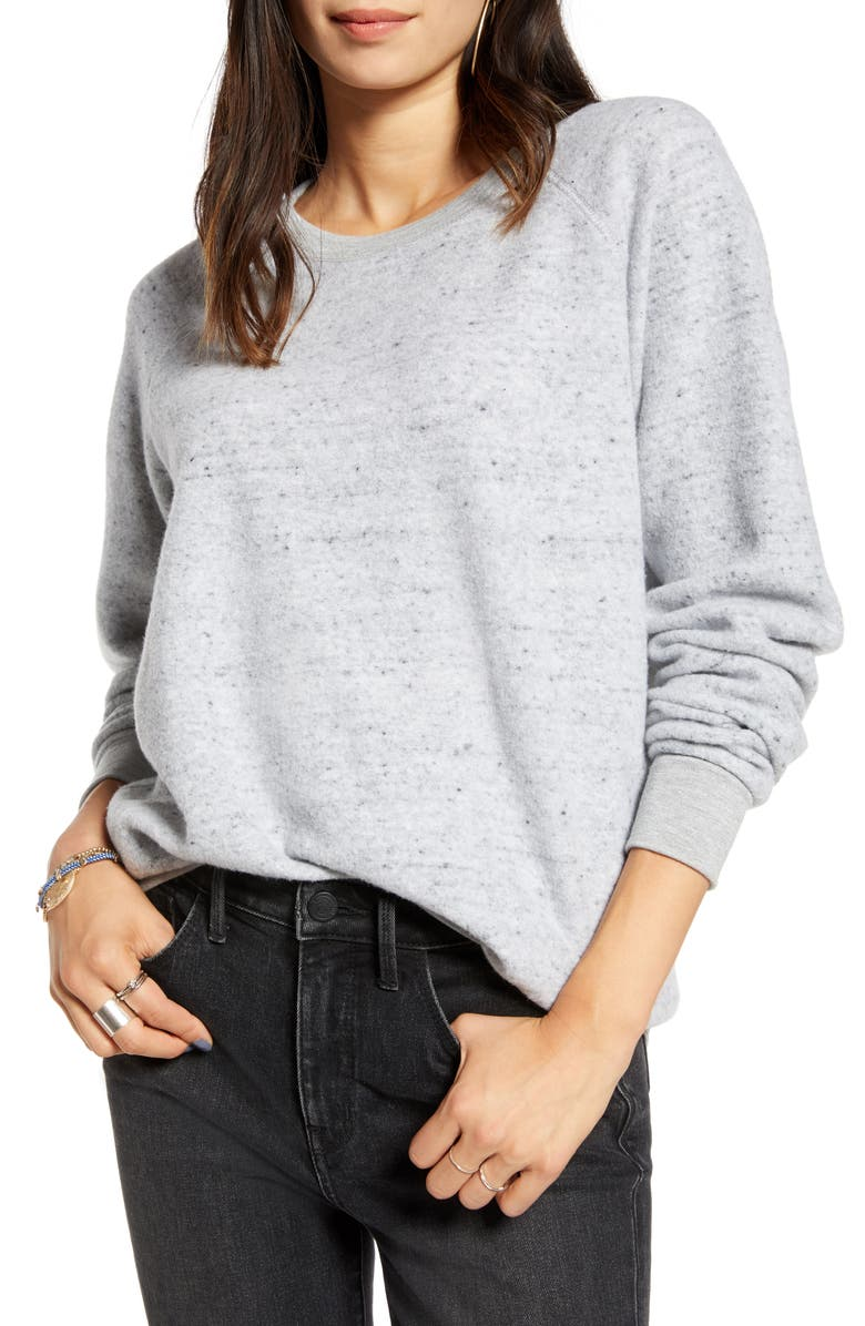 TREASURE & BOND Brushed Sweatshirt, Main, color, GREY LIGHT HEATHER