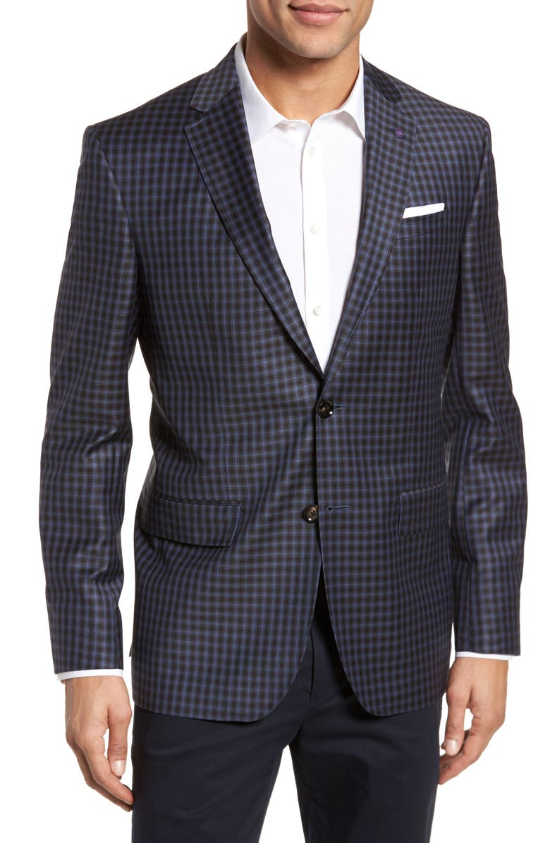 fa96ab0f4bed Ted Baker London Jay Trim Fit Check Wool Sport Coat | Nordstrom