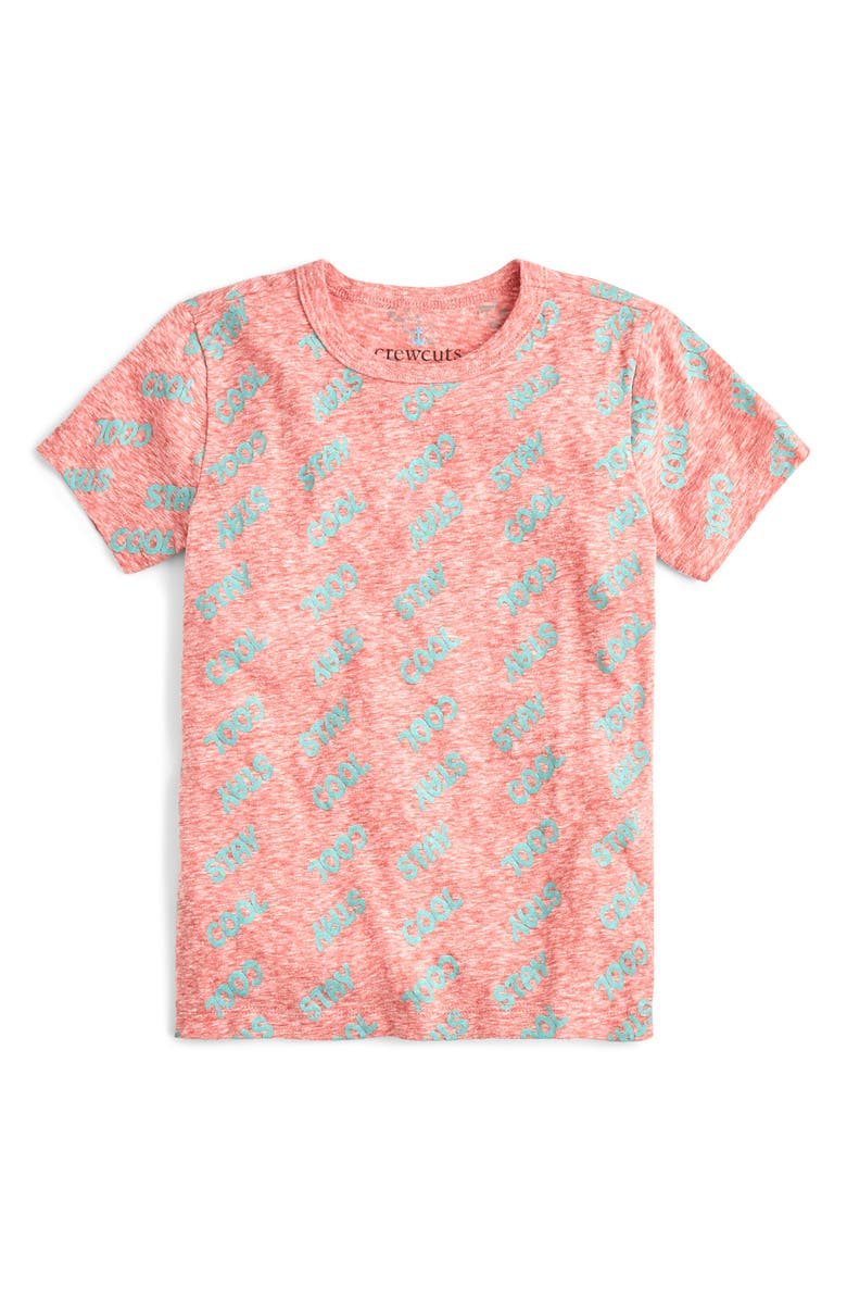 CREWCUTS BY J.CREW Stay Cool T-Shirt, Main, color, RED/ AQUA