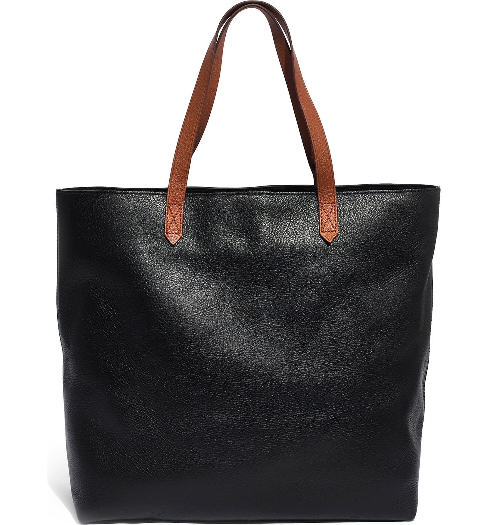 Zip Top Transport Leather Tote