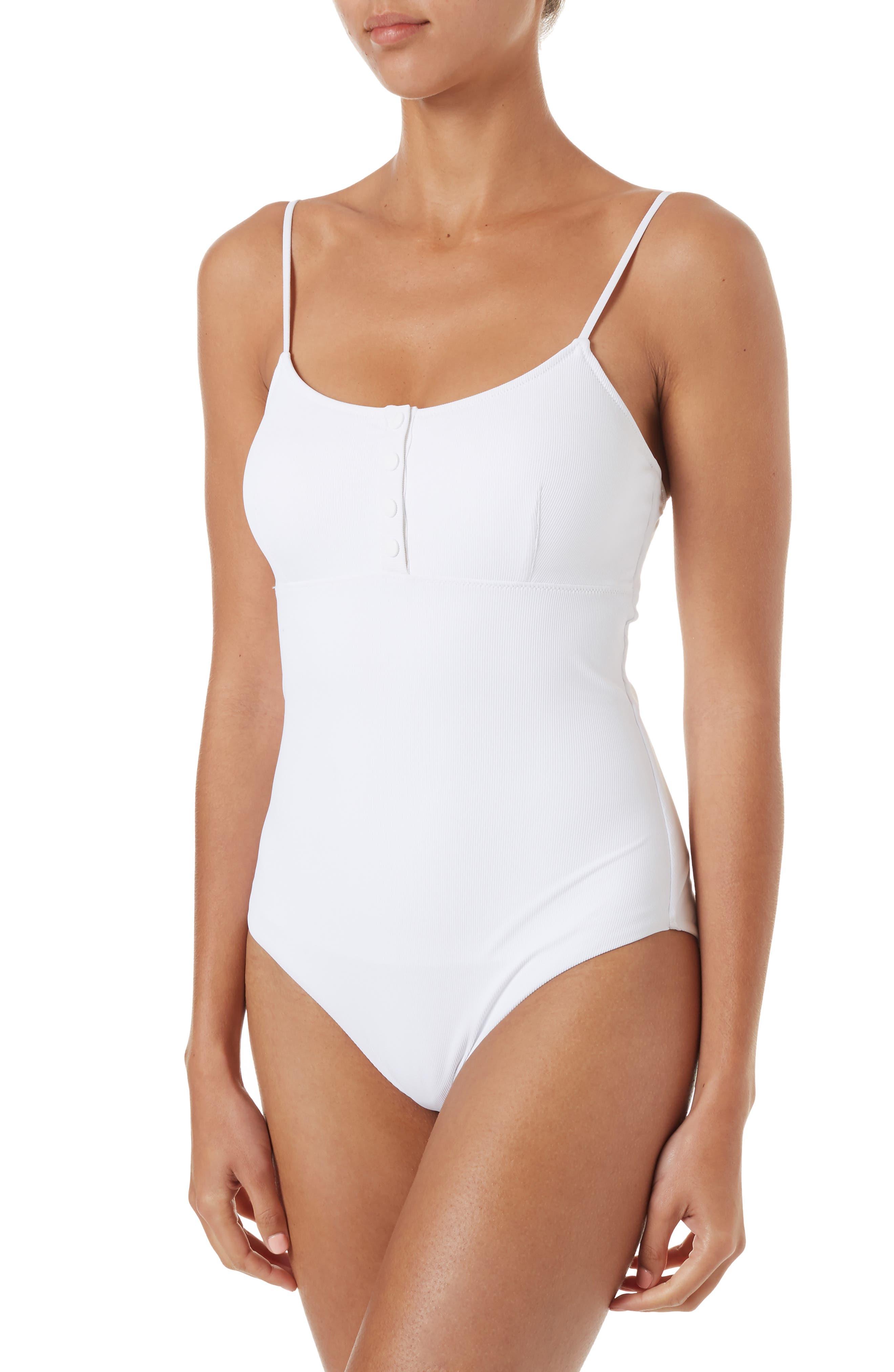 Melissa Odabash Calabasas Ribbed One-Piece Swimsuit