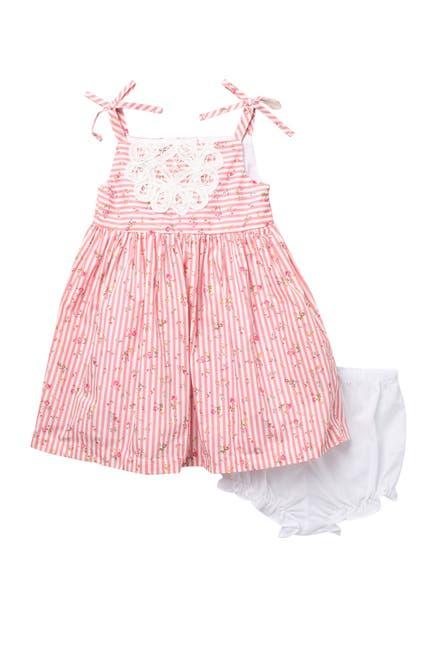 Image of Pippa & Julie Ditsy Floral Stripe Dress