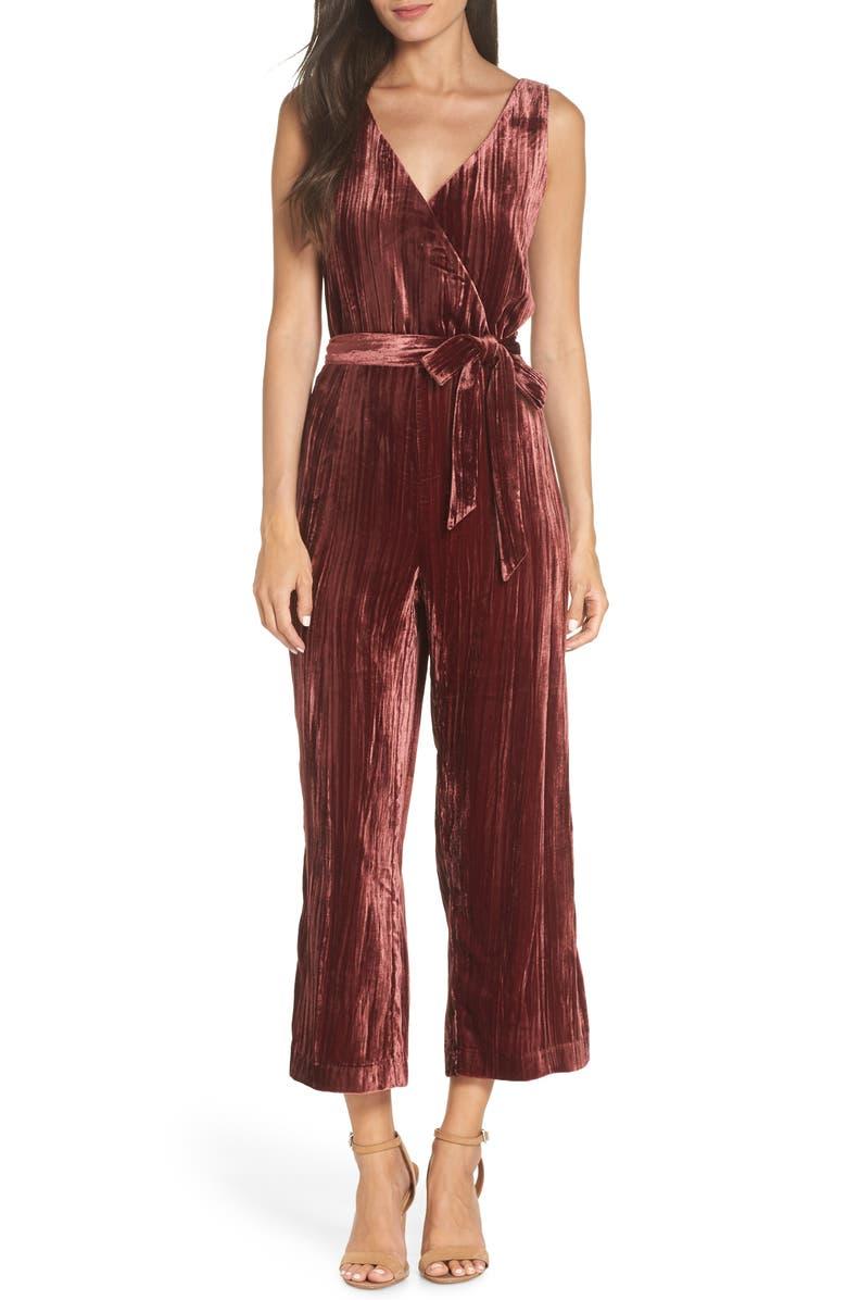 BB DAKOTA Crinkled Velvet Jumpsuit, Main, color, 930