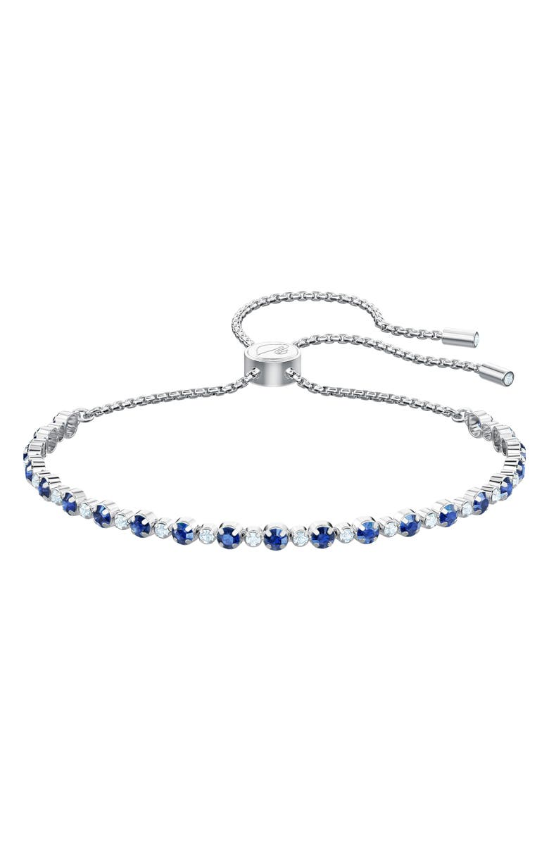 SWAROVSKI Subtle Slide Bracelet, Main, color, BLUE