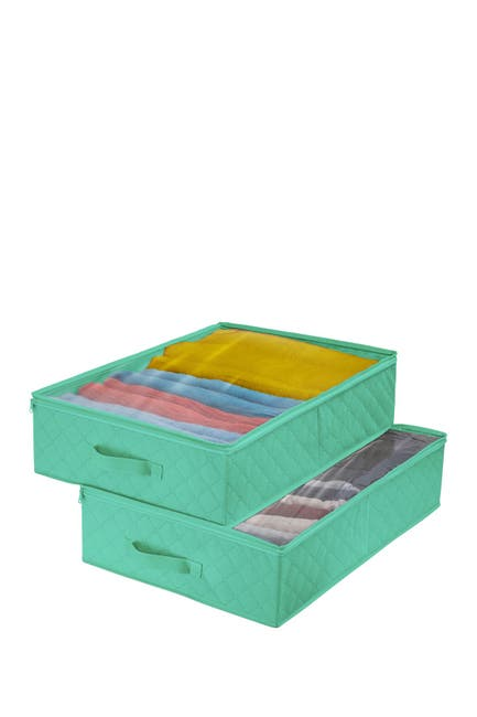 Image of Sorbus Teal Storage Closet Organizer - Pack of 2