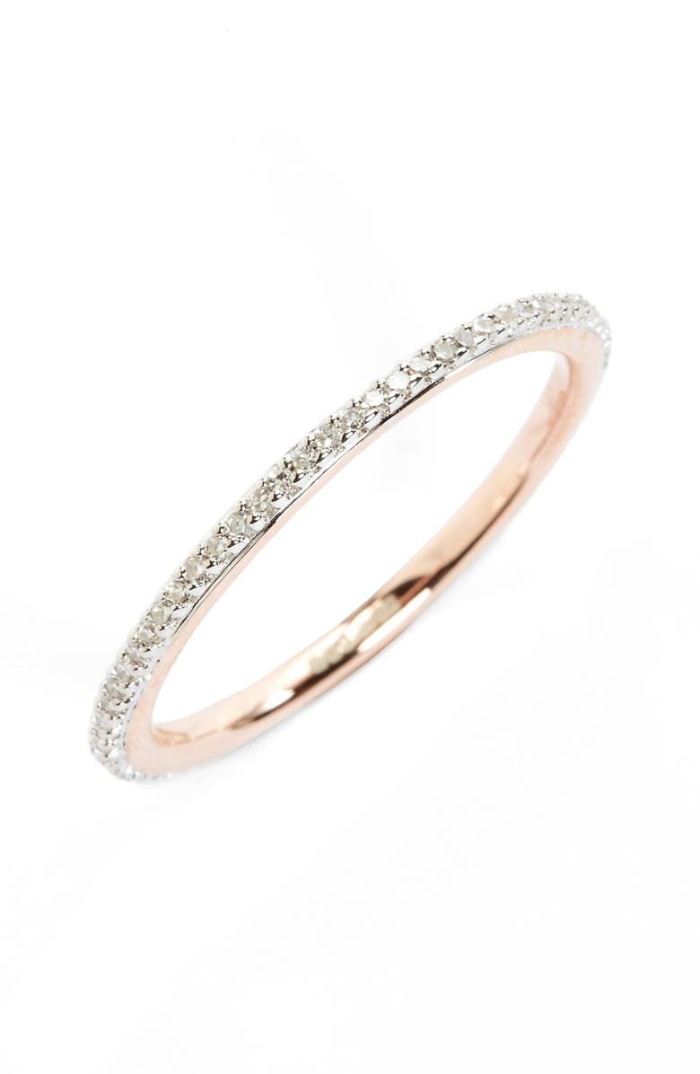 MONICA VINADER Diamond Eternity Ring, Main, color, DIAMOND/ ROSE GOLD