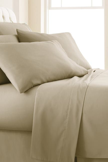 Image of SOUTHSHORE FINE LINENS Queen Sized Southshore Essentials Double Brushed 100 GSM Sheet Set - Warm Sand