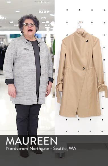 Tie Sleeve Trench Coat, sales video thumbnail
