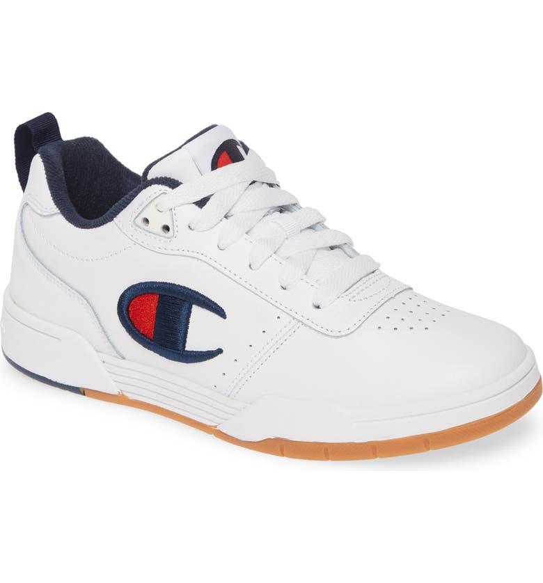 CHAMPION Court Classic Sneaker, Main, color, WHITE