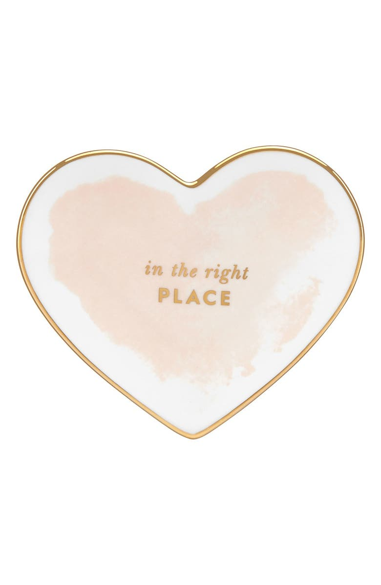 KATE SPADE NEW YORK 'posy court' heart dish, Main, color, 680
