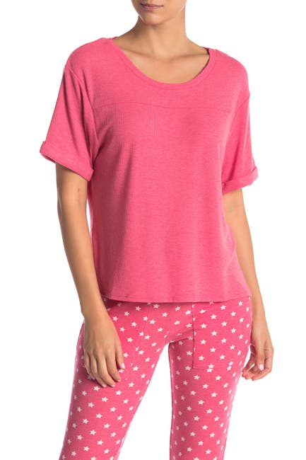 Image of Honeydew Intimates Evie Ribbed Knit Lounge T-Shirt