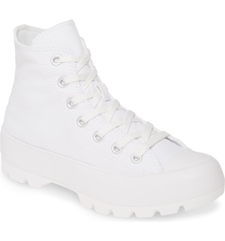 CONVERSE Chuck Taylor<sup>®</sup> All Star<sup>®</sup> Lugged Boot, Main, color, WHITE/ BLACK/ WHITE