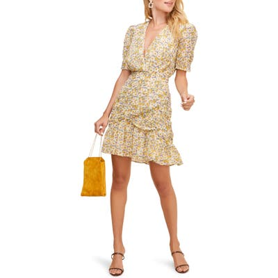 Astr The Label Lucky Me Minidress, Yellow