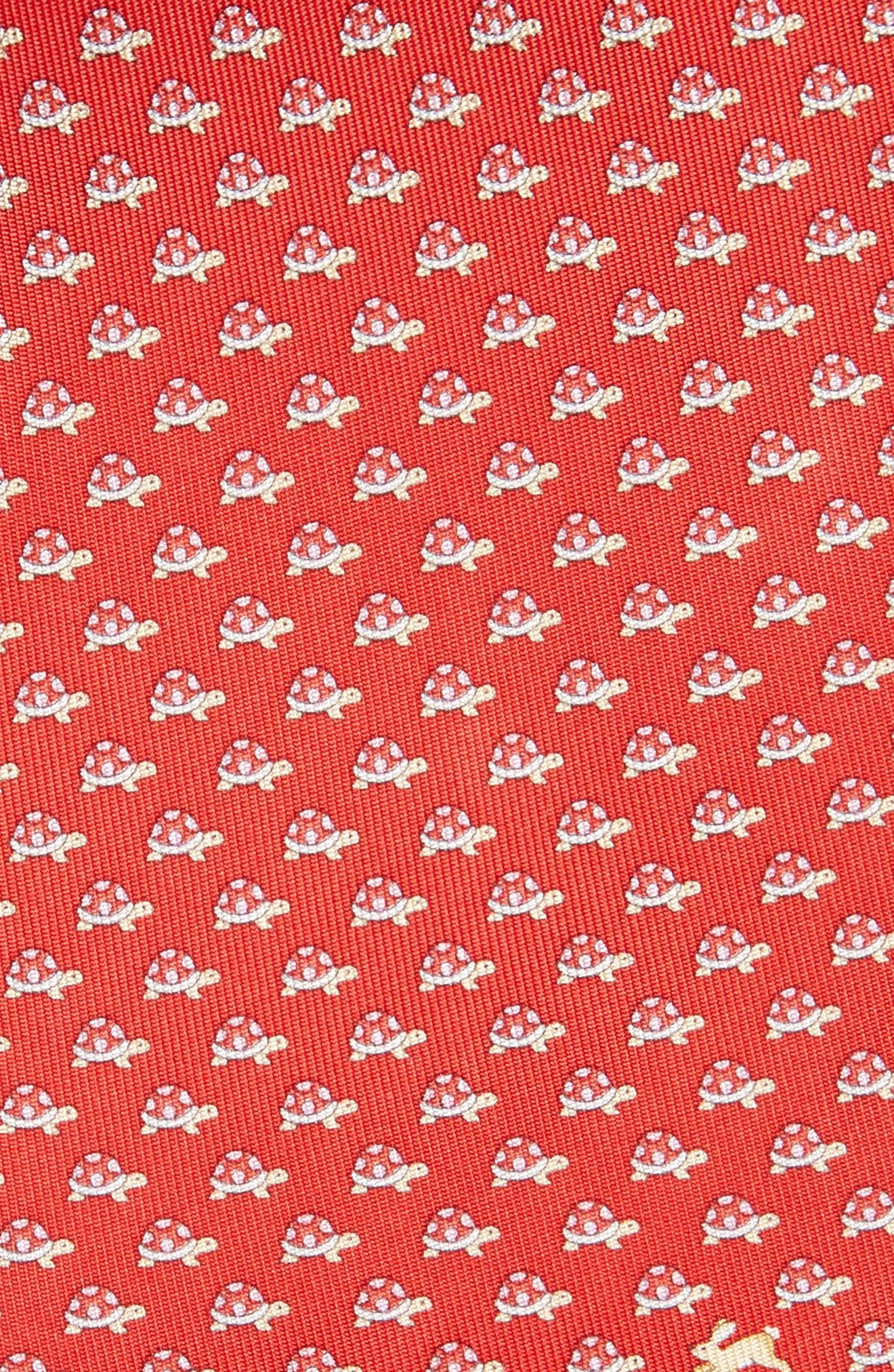 ,                             Gaudio Print Silk Tie,                             Alternate thumbnail 2, color,                             RED/ CORAL