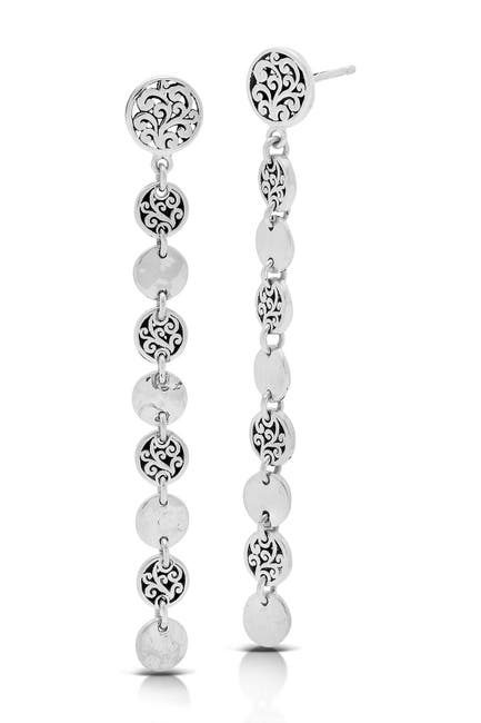 Image of Lois Hill Sterling Silver Disc Drop Earrings
