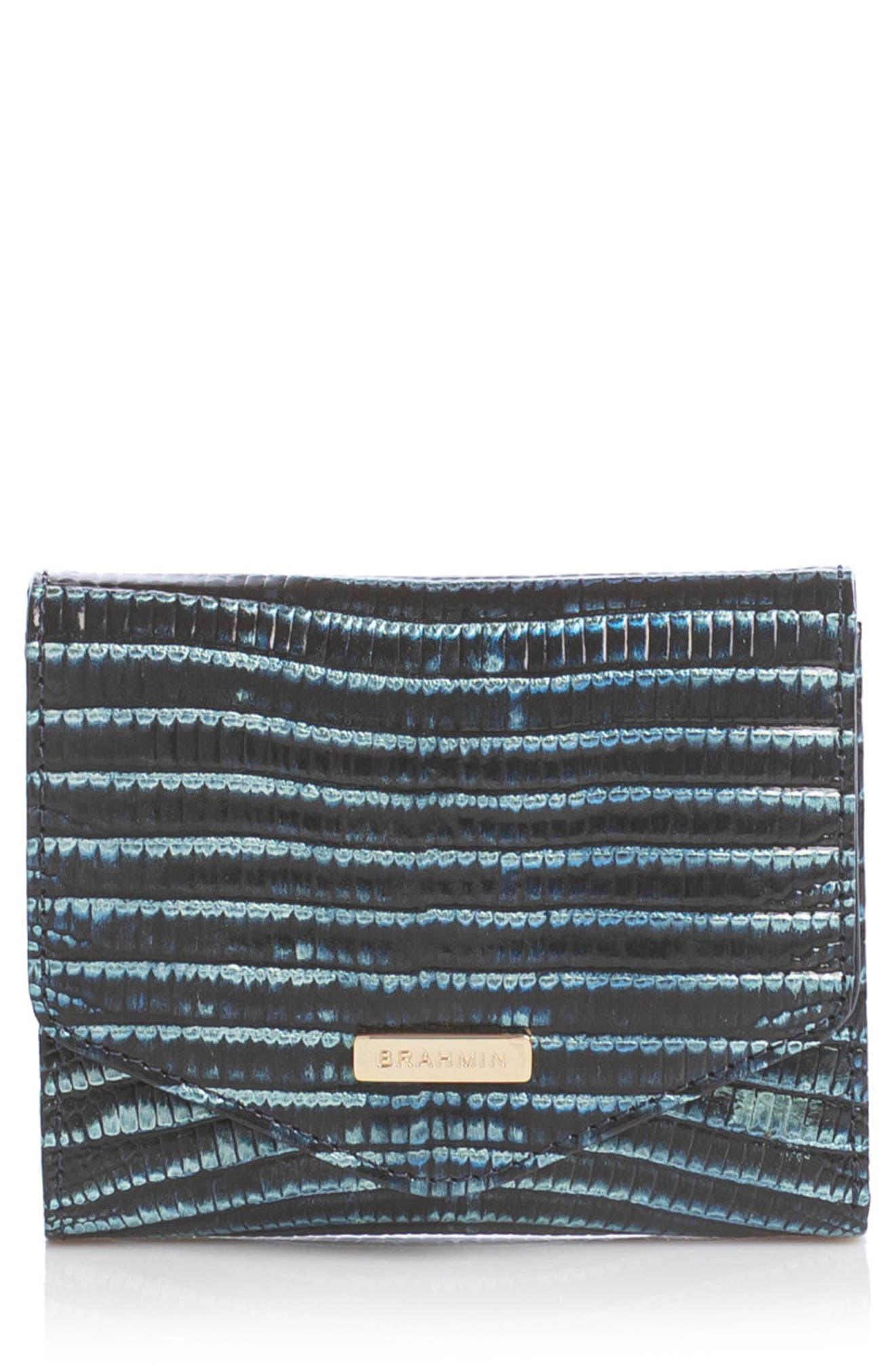 Small Veronica Reptile Embossed Leather Wallet