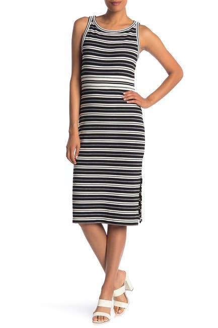 Image of Max Studio Stripe Knit Midi Dress