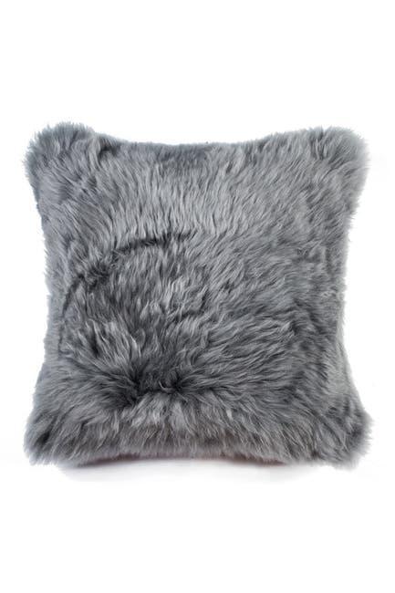 """Image of Kinetic New Zealand Genuine Sheepskin Pillow - 18""""x18"""" - Grey"""