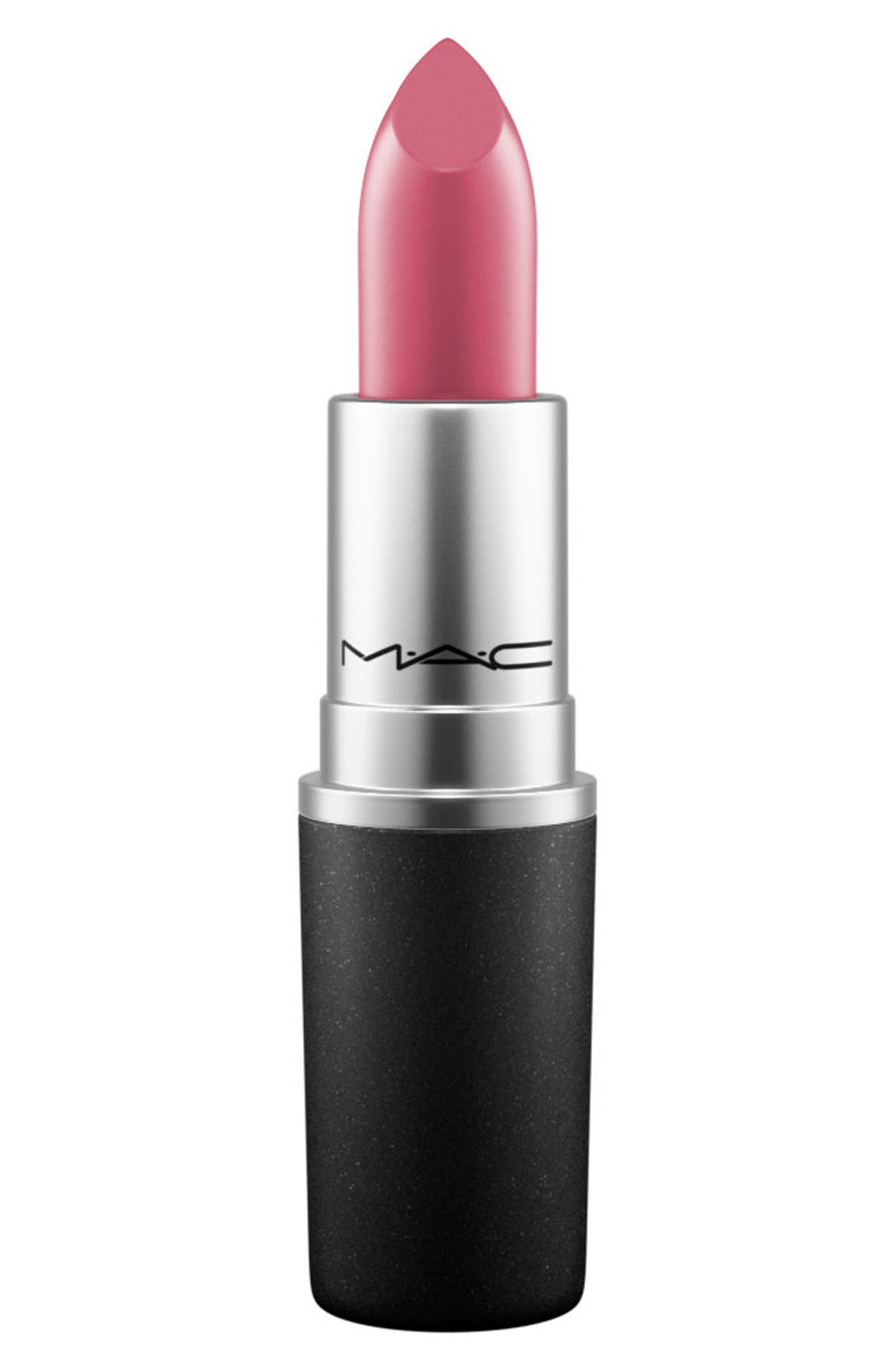 What it is: A creamy lipstick featuring medium-to-full buildable coverage and a satin finish. What it does: With its soft, cushiony texture, this lipstick features the same formula that made the brand famous. How to use: Prep your lips with a primer before applying color. You can apply the color directly to your lips from the bullet or use a lip brush for more precision. Style Name: Mac Satin Lipstick. Style Number: 256393 5. Available in stores.
