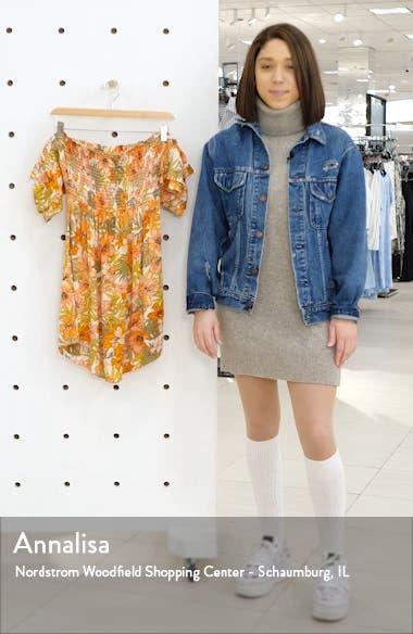 Dancing Sun Off the Shoulder Minidress, sales video thumbnail