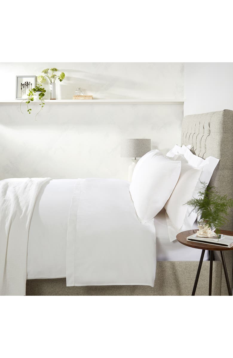 THE WHITE COMPANY Egyptian Cotton Duvet Cover, Main, color, WHITE/WHITE