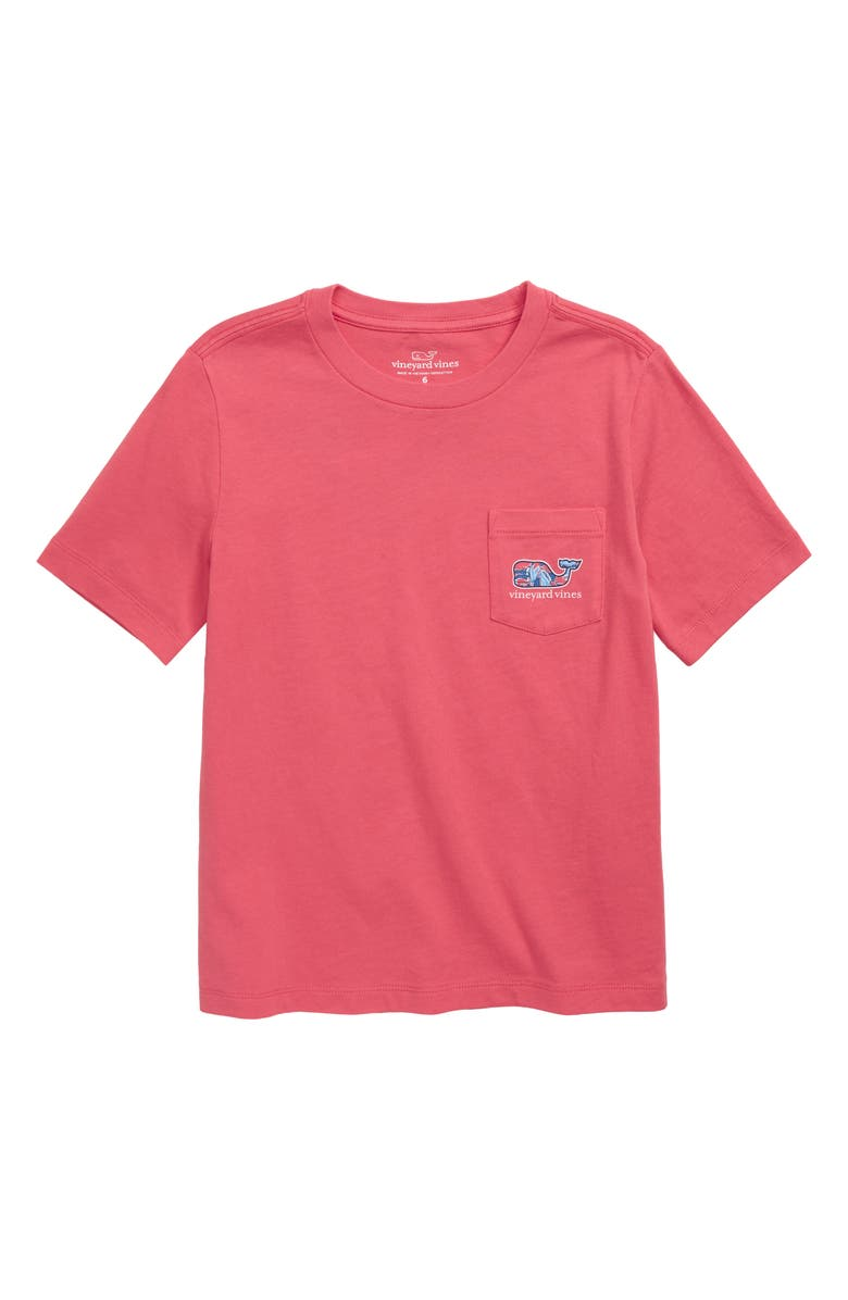 VINEYARD VINES Shell Crab Whale T-Shirt, Main, color, JETTY RED
