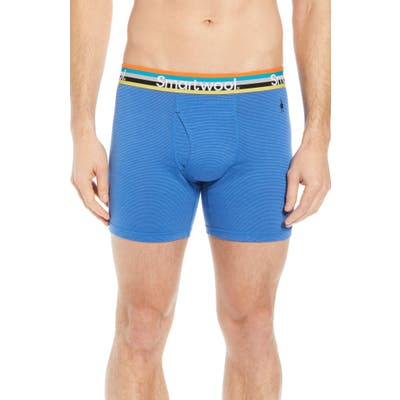 Smartwool 150 Merino Wool Blend Boxer Briefs, Blue