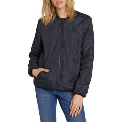 Volcom Polar Reversible Fleece Jacket, Black