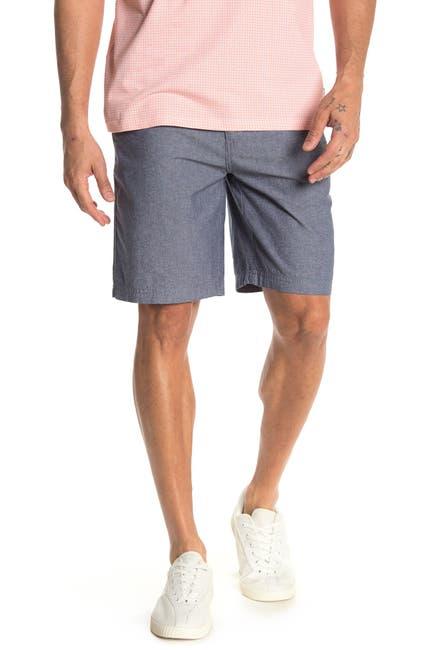 Image of WALLIN & BROS Flat Front Chambray Shorts