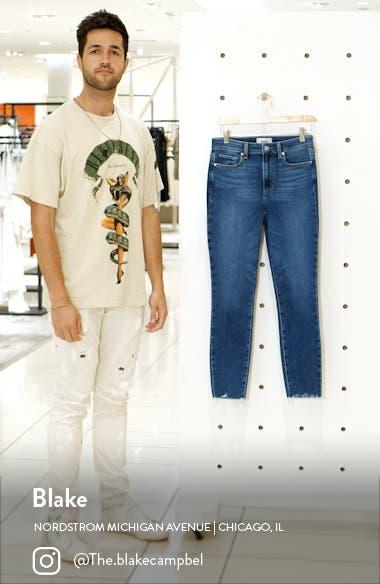 Hoxton Raw Hem Ankle Skinny Jeans, sales video thumbnail