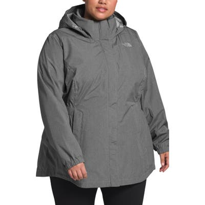 Plus Size The North Face Resolve Ii Hooded Waterproof & Windproof Parka