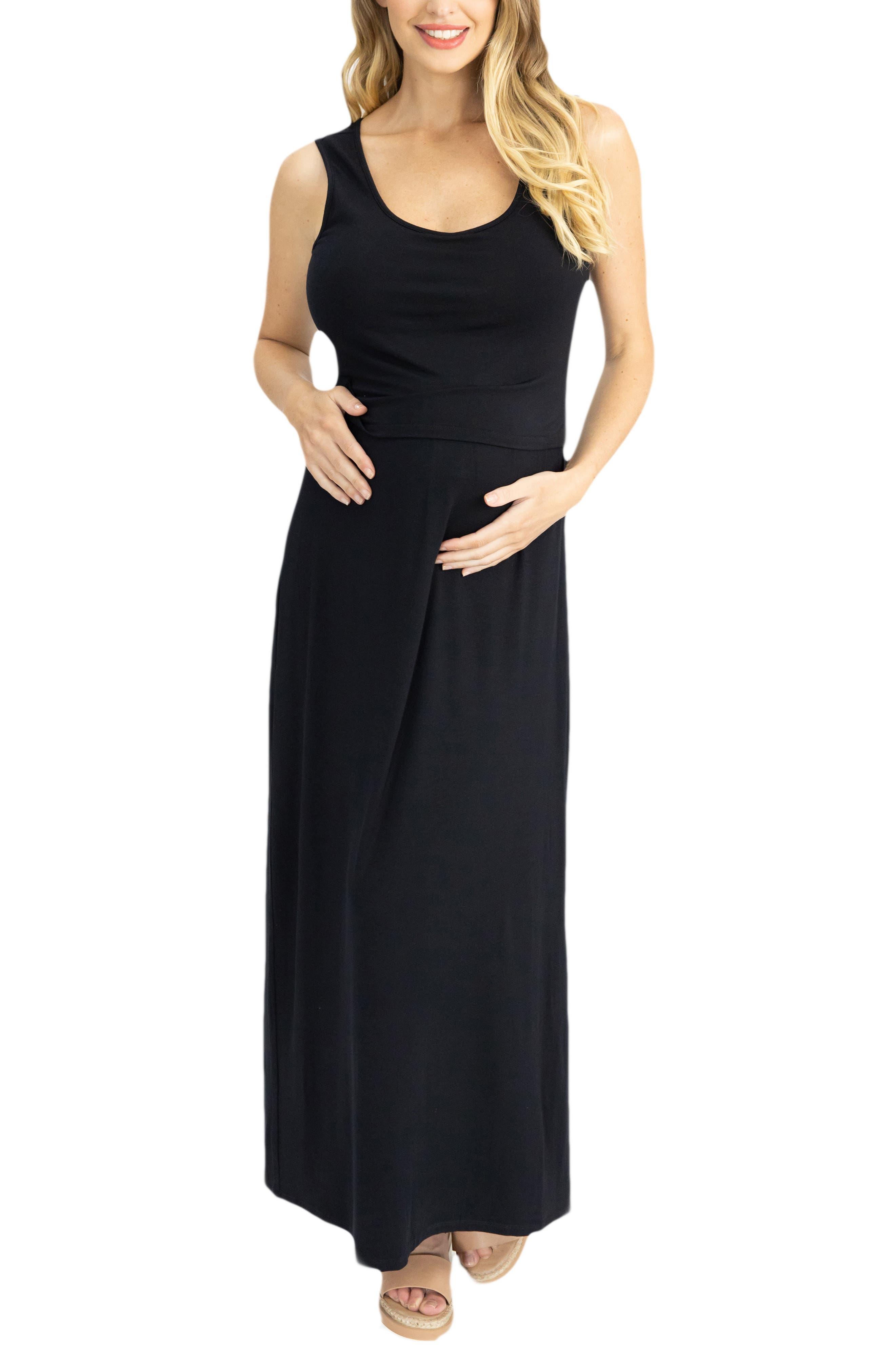 Maternity/nursing Maxi Dress