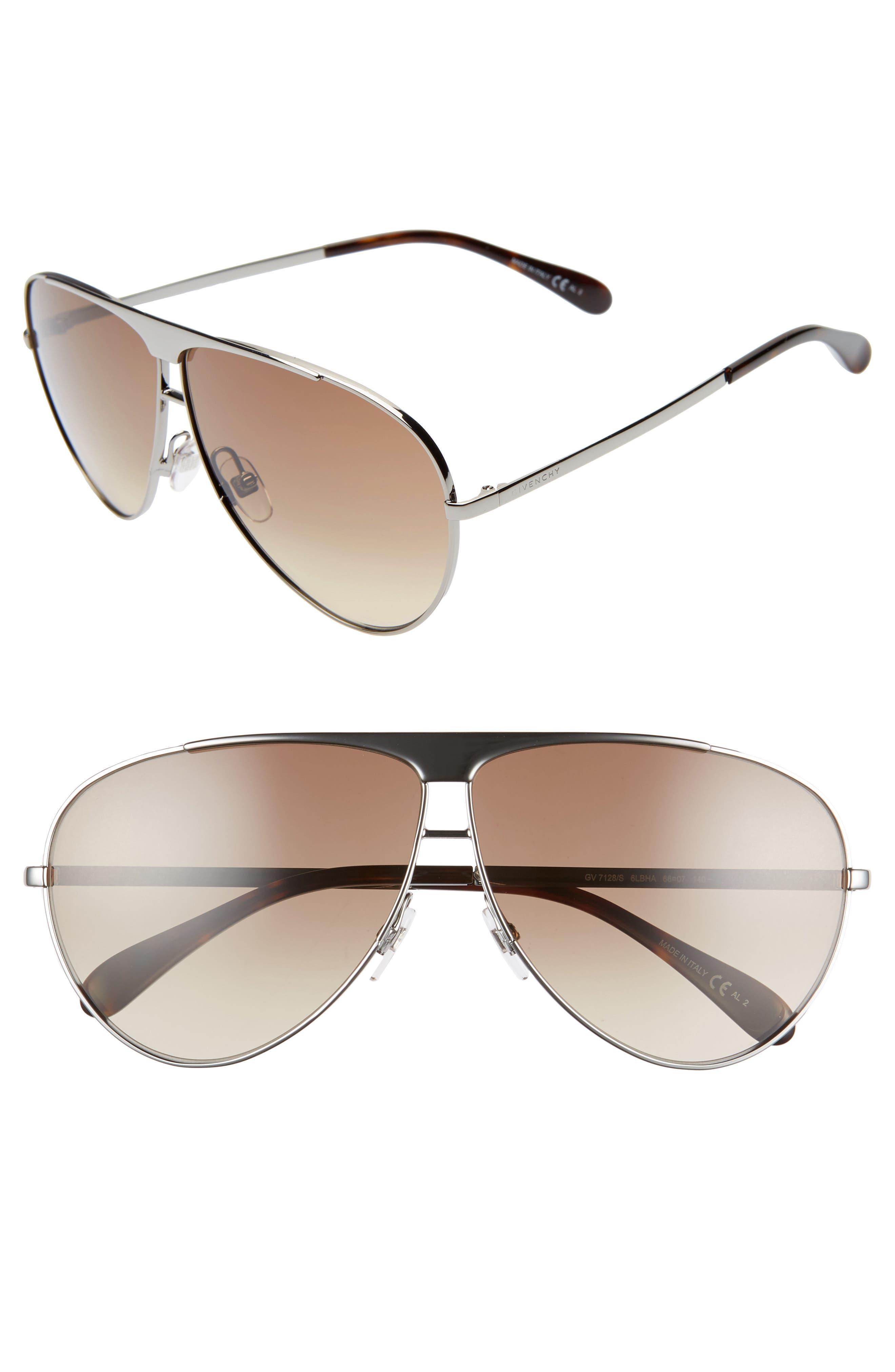 Givenchy 6m Aviator Sunglasses - Ruthenium/ Grey