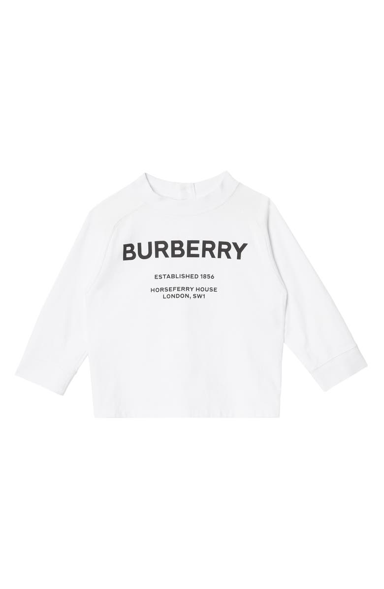 BURBERRY Mini Griffon T-Shirt, Main, color, 100